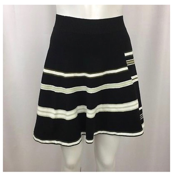 BCBGeneration Dresses & Skirts - BCBGeneration Striped Cadet Combo Knit Skirt L